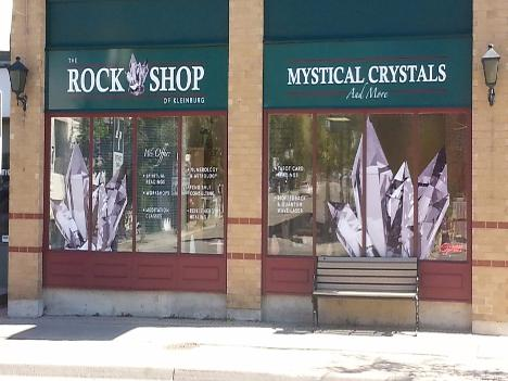 Rock shop front window